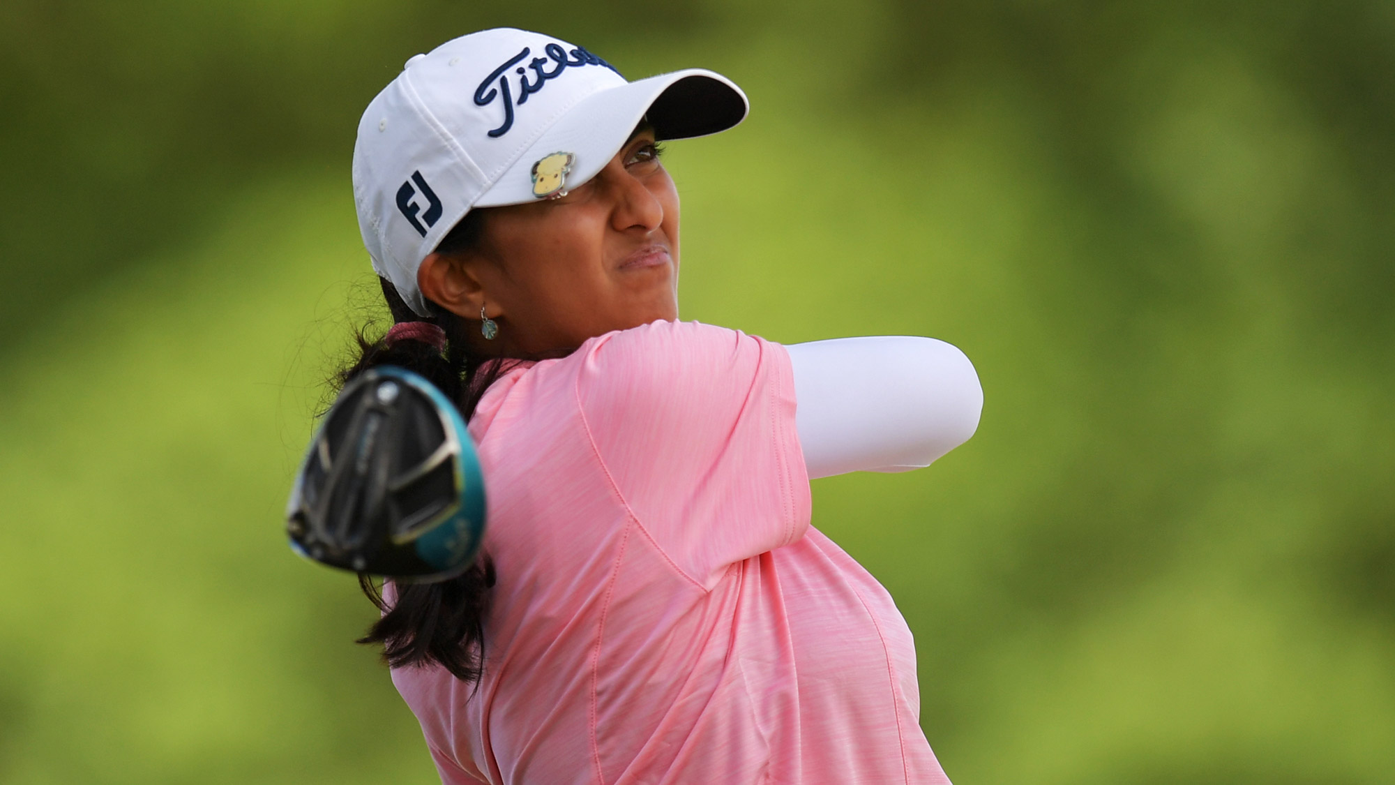 Aditi Ashok Stares Down the Fairway in Round One