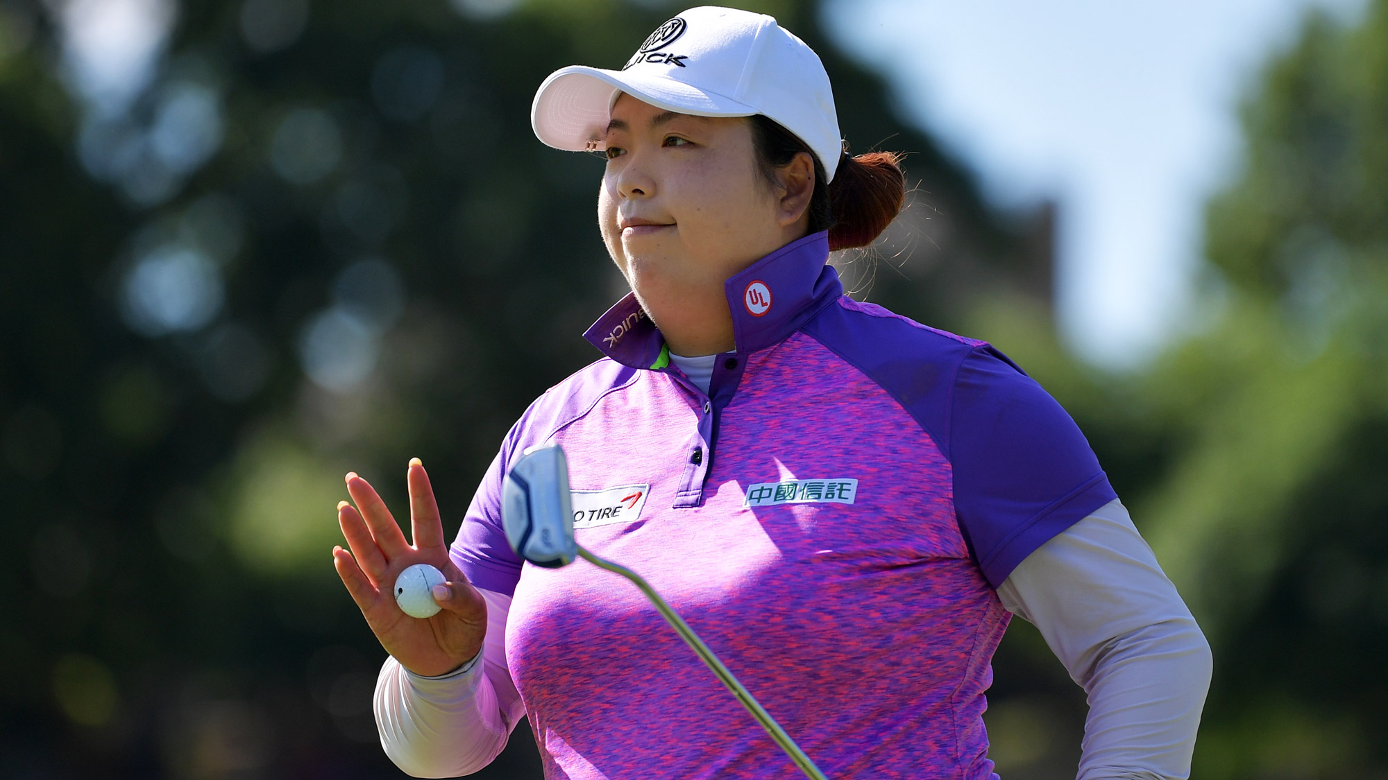 Shanshan Feng After a Birdie in Arkansas