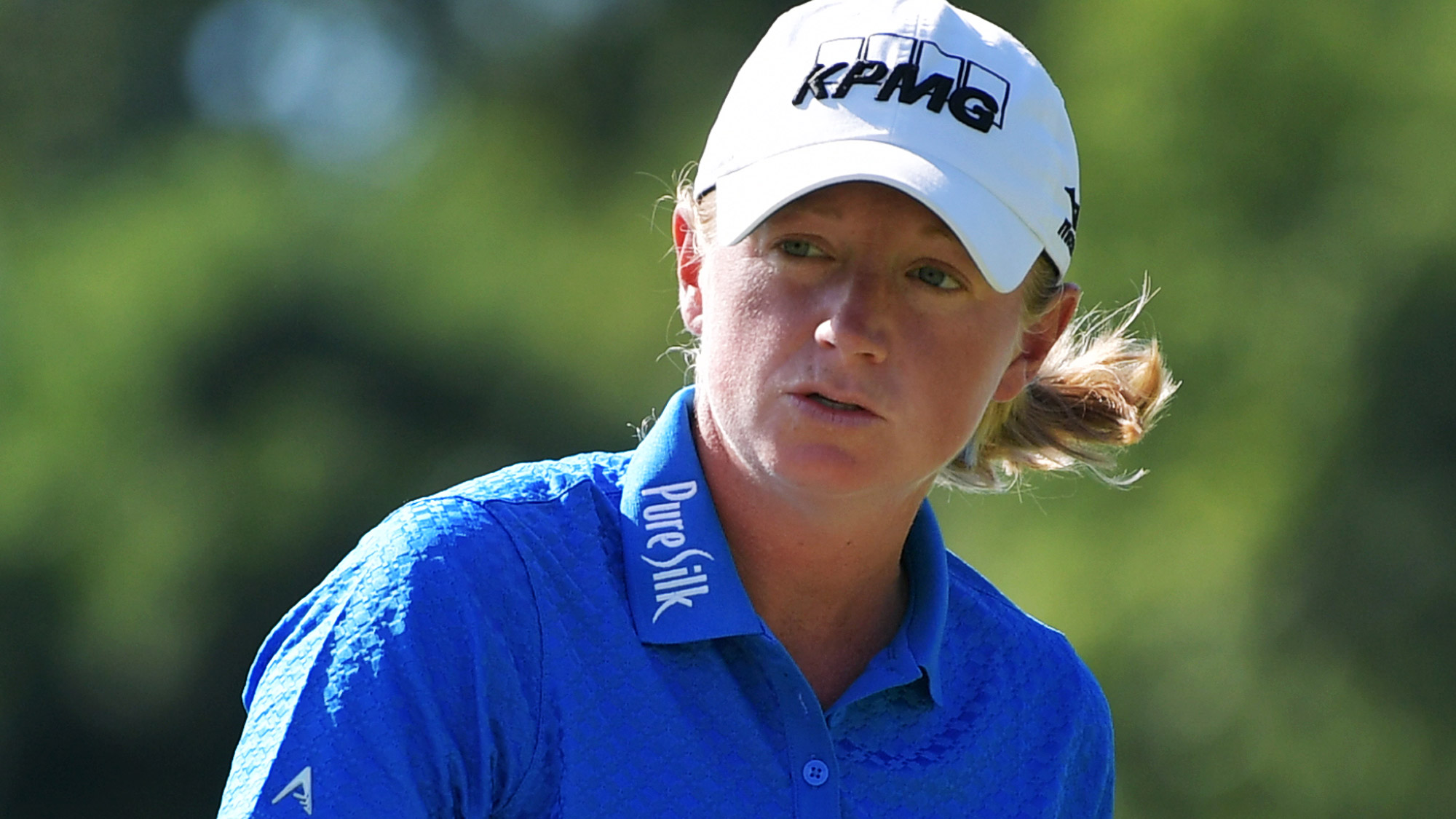 Stacy Lewis in Round One of the Walmart NW Arkansas Championship