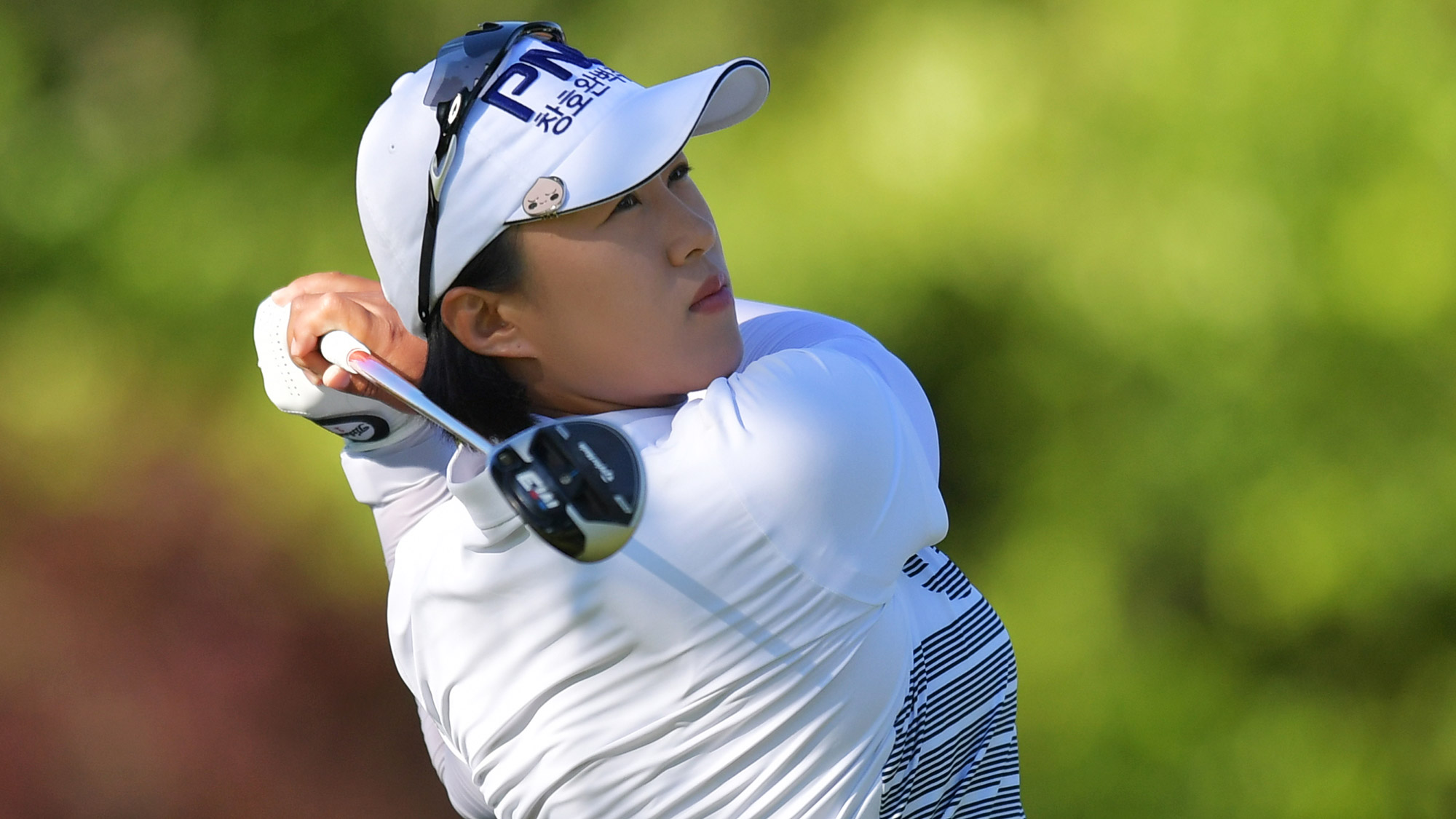 Amy Yang Takes a Swing in Round One of the Walmart NW Arkansas Championship
