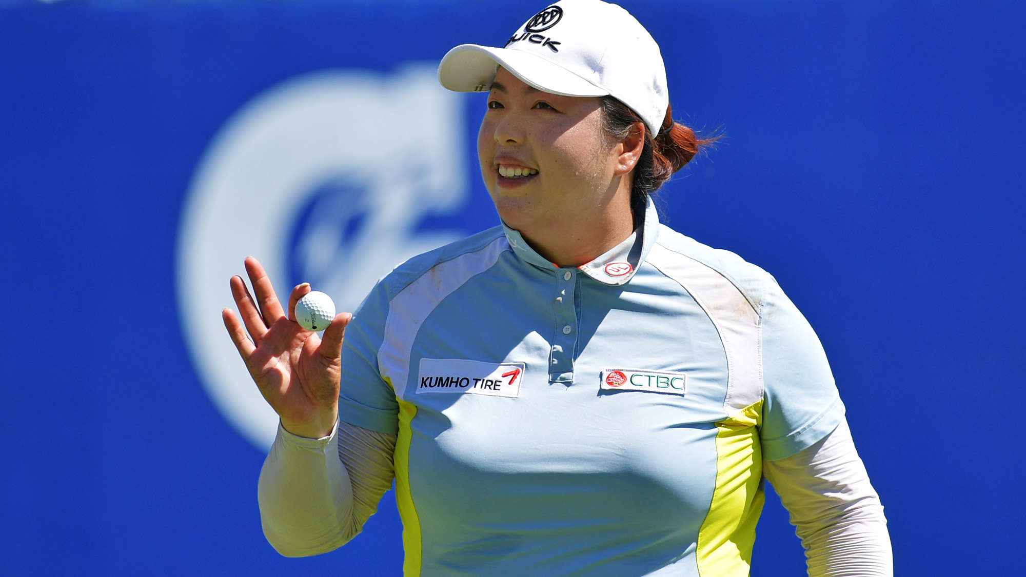 Shanshan Feng Smiles at the Walmart NW Arkansas Championship