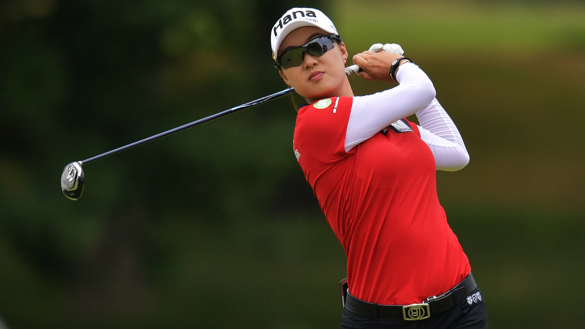 Minjee Lee Swings at the Walmart NW Arkansas Championship