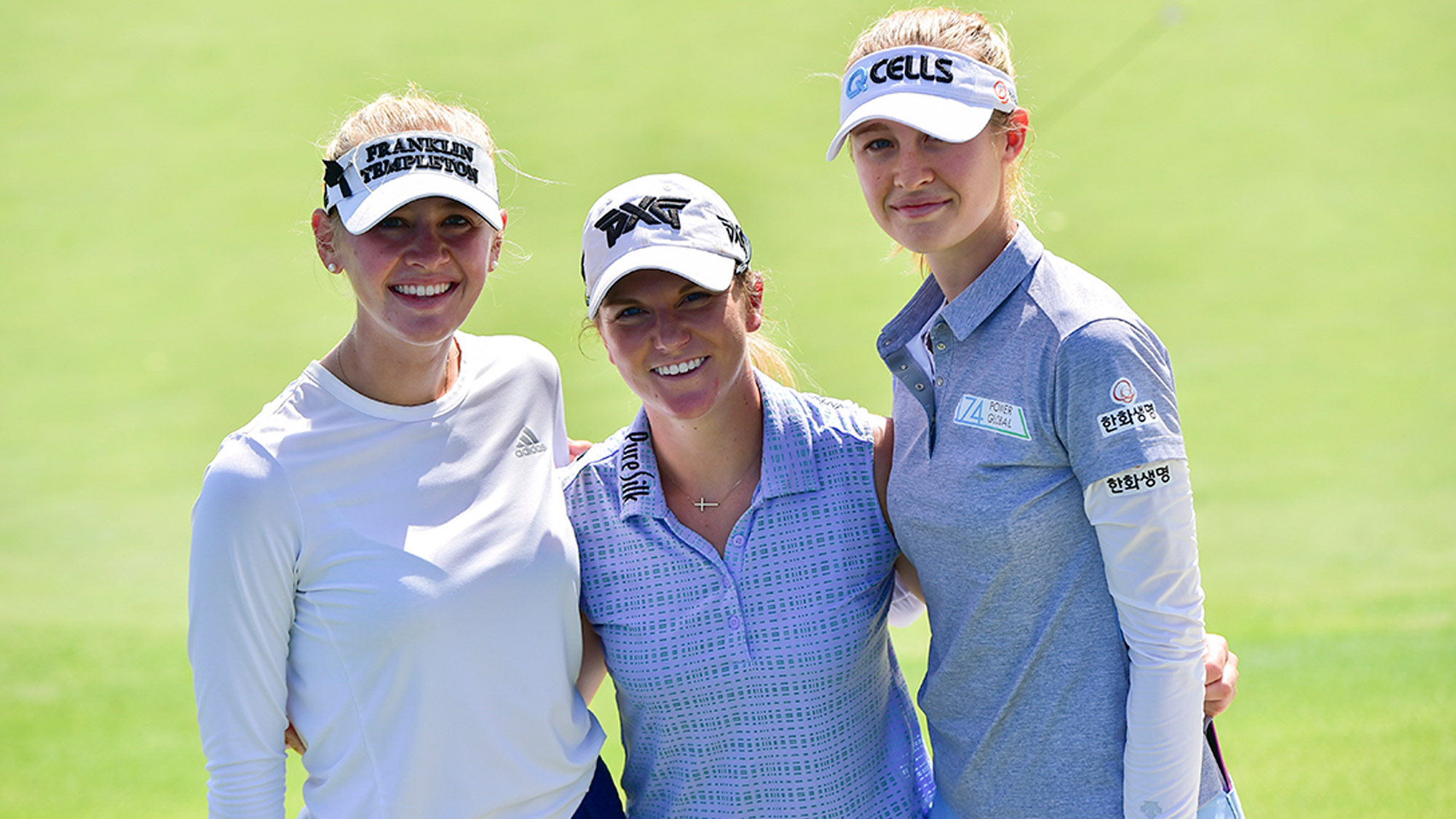 Jessica Korda, Austin Ernst and Nelly Korda Play a Practice Round