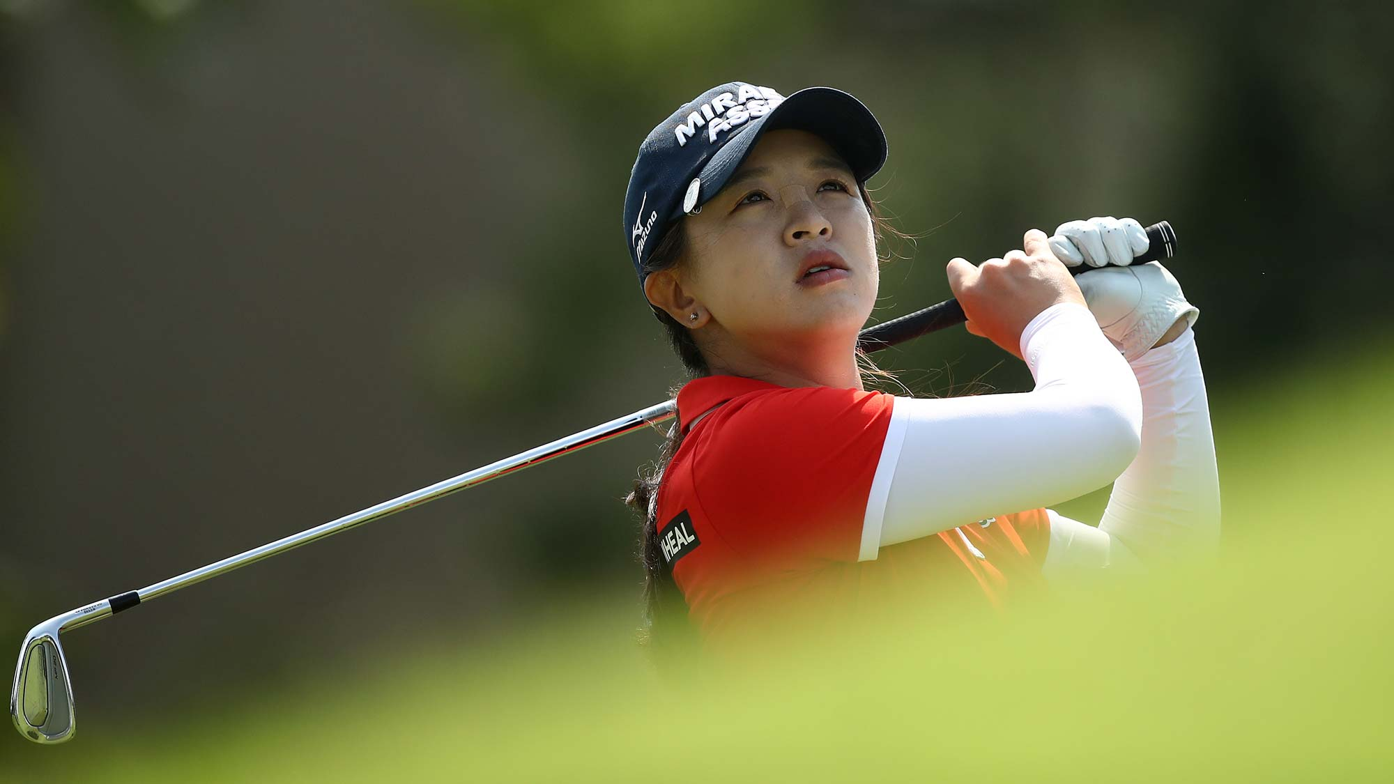 Sei Young Kim of Korea tees off on the third hole during round two of the LPGA Walmart NW Arkansas Championship