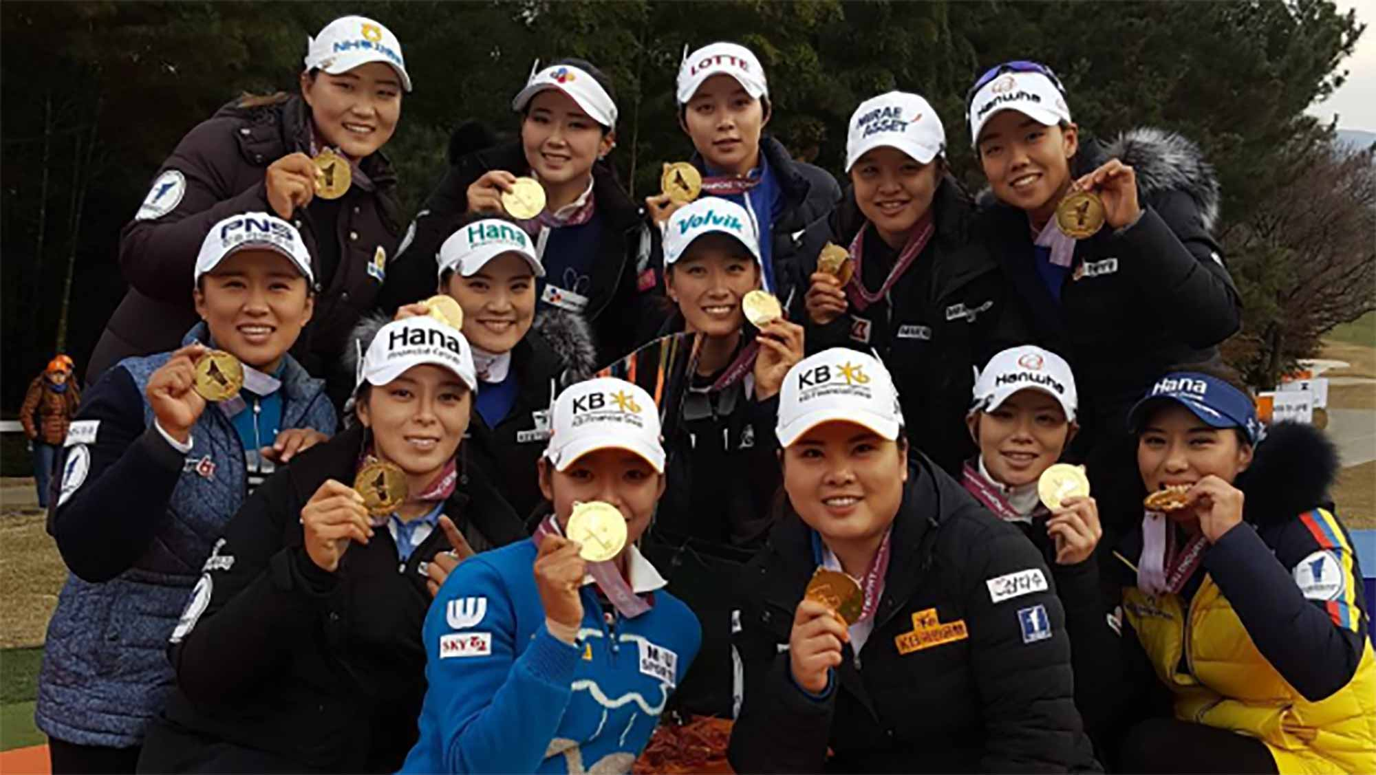 Park Hosts LPGA vs. KLPGA Team Event, Celebrates In Korea