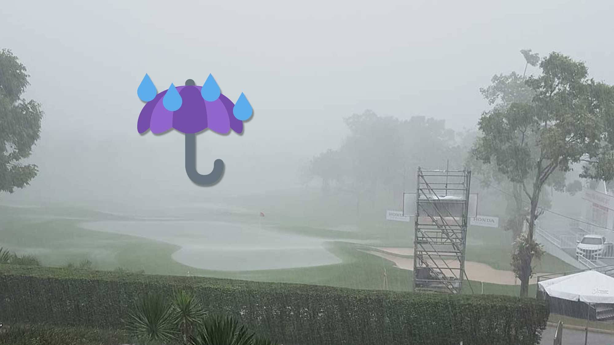 Honda LPGA Thailand Round 2 Weather Delay Social Media Posts